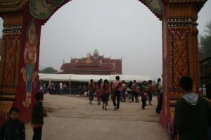 Arrivée au temple pour le premier jour du Nouvel an