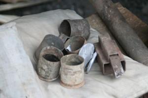 Le matériau de base (14000 kips le kilo; 20 cuillères à env. 2000 kips/pièce)